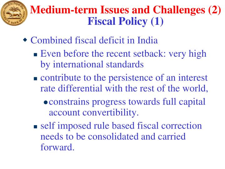 Medium-term Issues and Challenges (2)