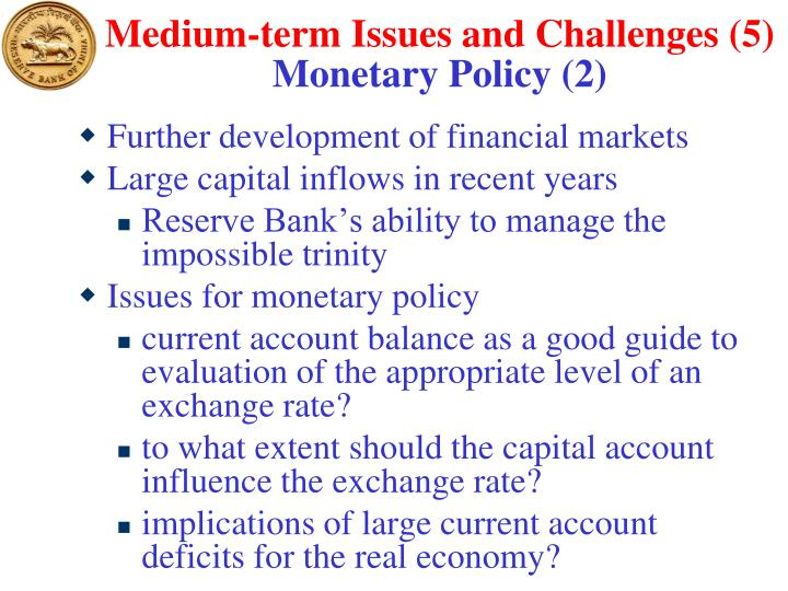 Medium-term Issues and Challenges (5)