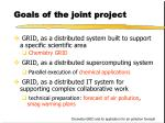 goals of the joint project