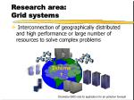 research area grid systems