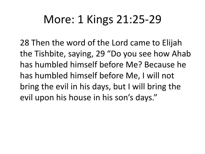 More: 1 Kings 21:25-29