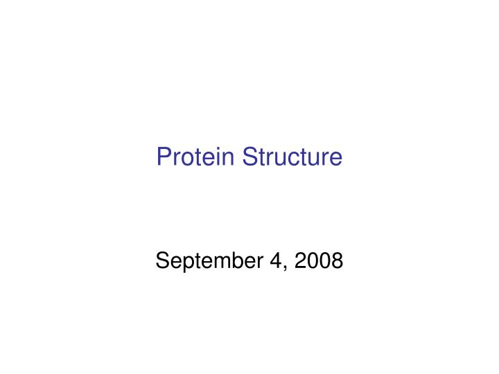 protein structure n.