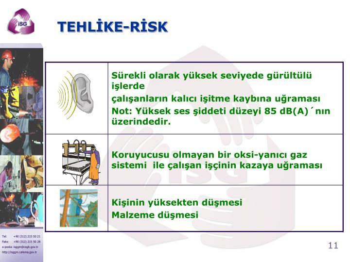 TEHLİKE-RİSK