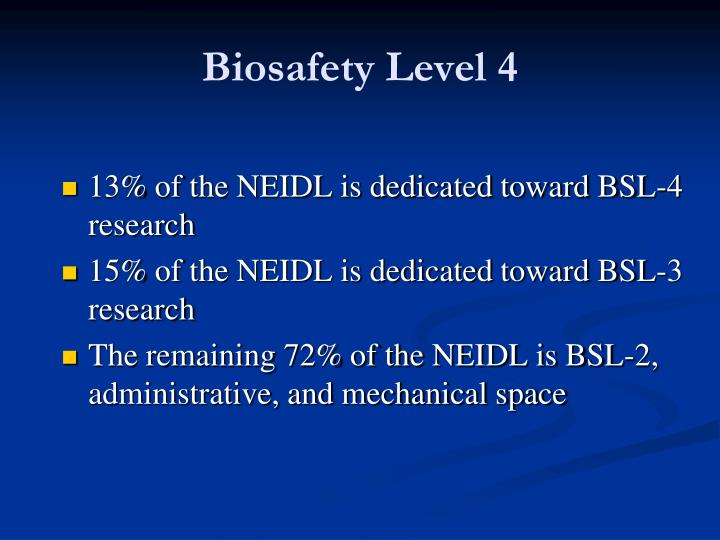 Biosafety level 4