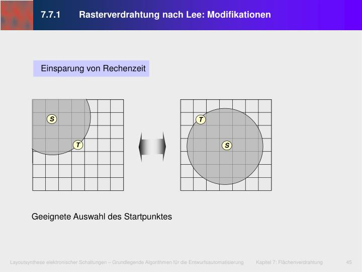 7.7.1 Rasterverdrahtung nach Lee: Modifikationen