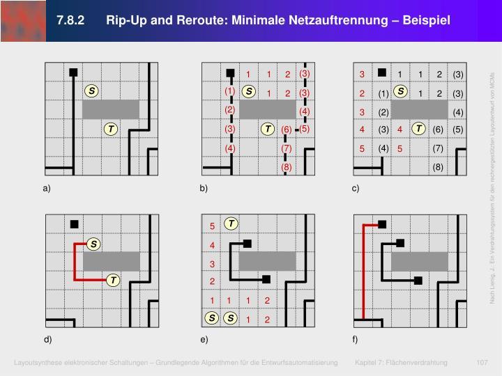 7.8.2Rip-Up and Reroute: Minimale Netzauftrennung – Beispiel