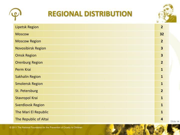 REGIONAL DISTRIBUTION