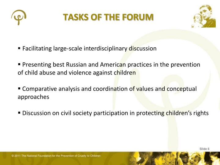 TASKS OF THE FORUM