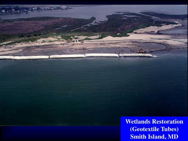 Wetlands Restoration (Geotextile Tubes) Smith Island, MD