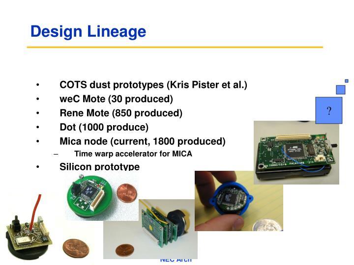 Design lineage