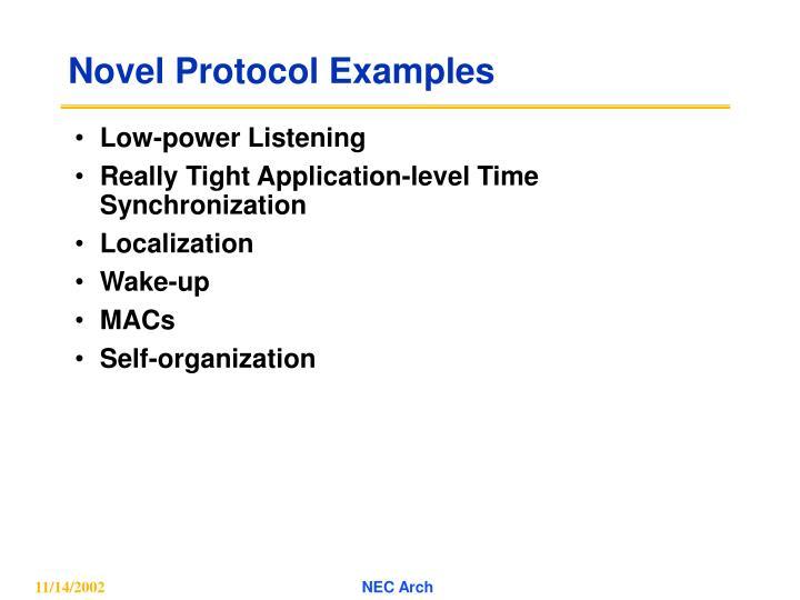 Novel Protocol Examples