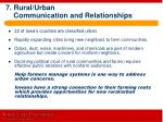 7 rural urban communication and relationships
