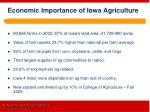economic importance of iowa agriculture