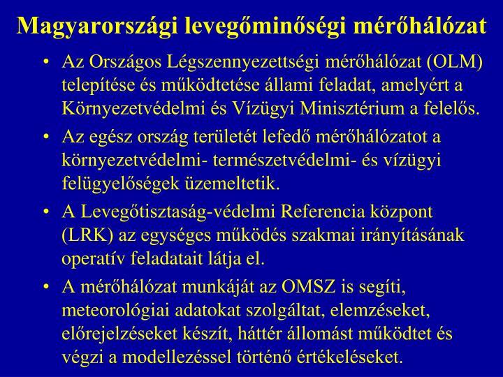 Magyarországi levegőminőségi mérőhálózat