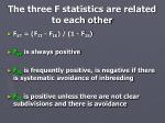 the three f statistics are related to each other