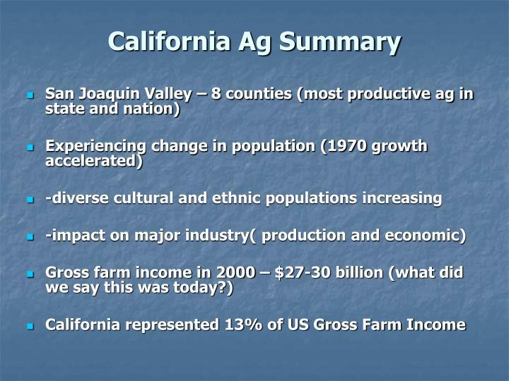 California Ag Summary
