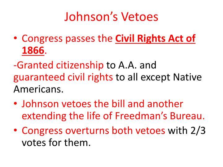 Johnson's Vetoes