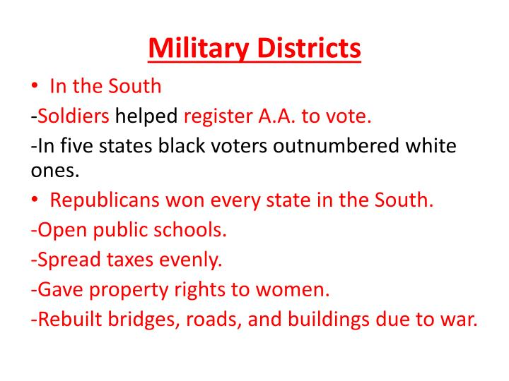 Military Districts