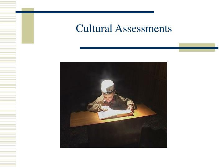 Cultural Assessments