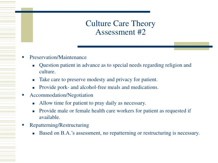 Culture Care Theory