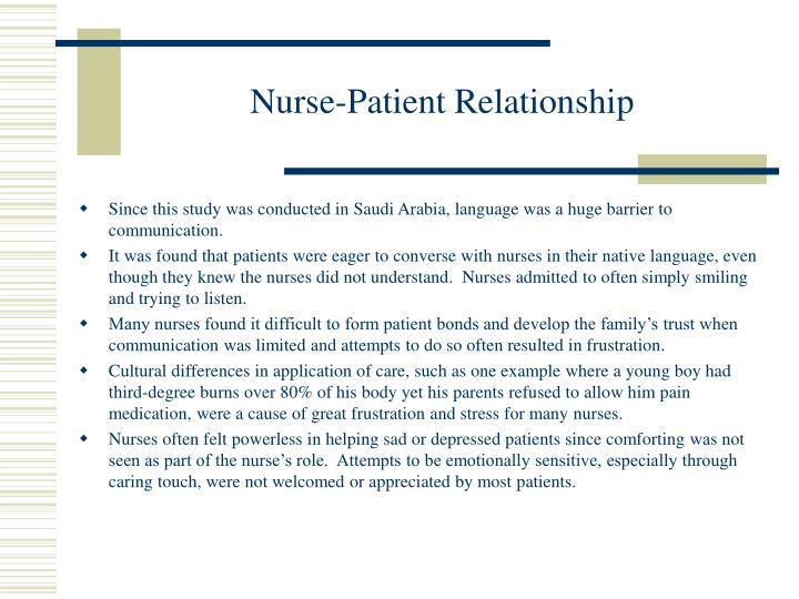 Nurse-Patient Relationship
