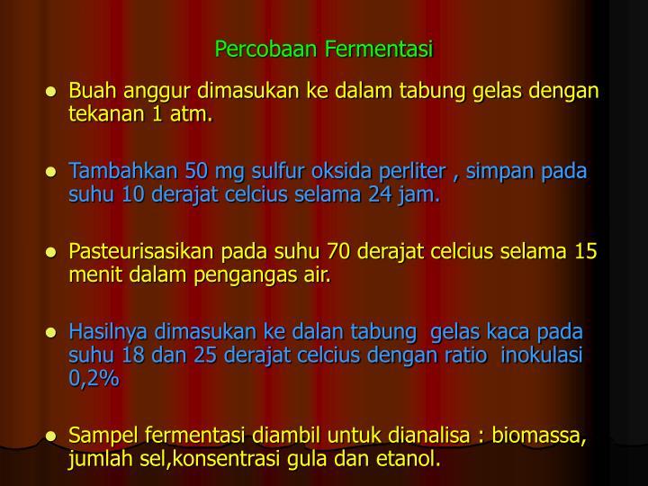 Percobaan Fermentasi
