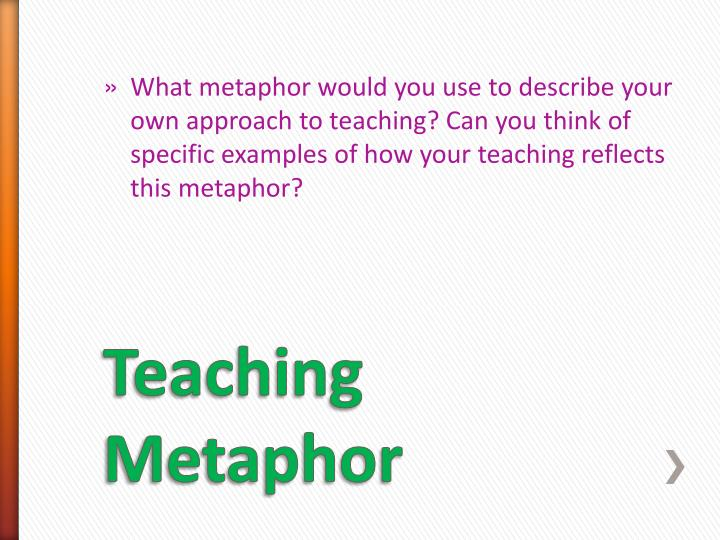 Teacher Metaphors Examples Image Collections Example Cover Letter