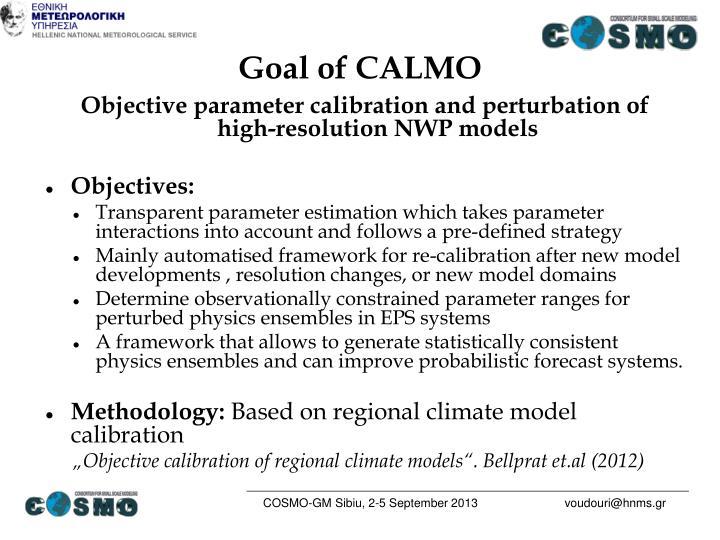 Goal of CALMO