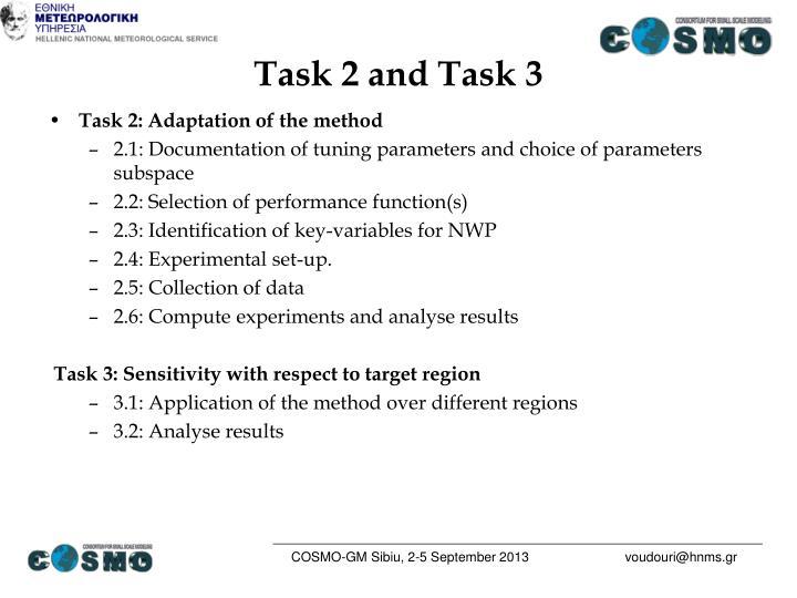 Task 2 and Task 3