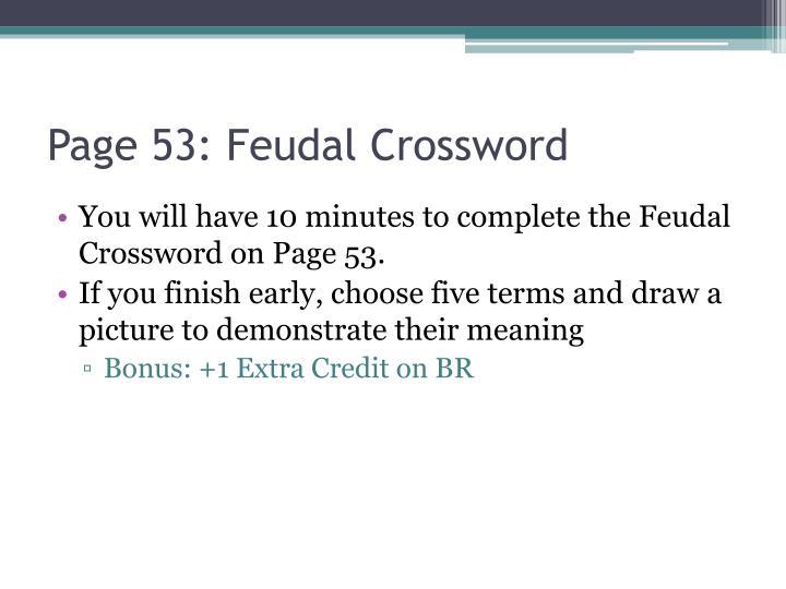 Page 53: Feudal Crossword
