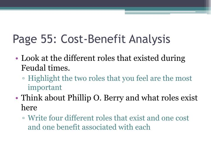 Page 55: Cost-Benefit Analysis