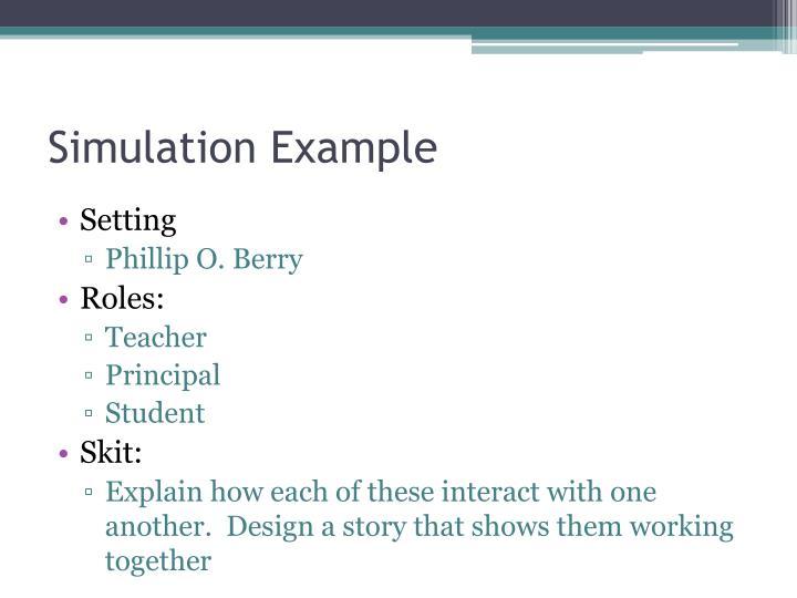 Simulation Example