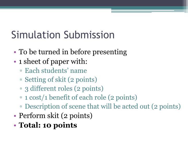 Simulation Submission