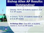 bishop allen ap results outstanding
