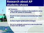 research about ap students shows