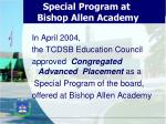 special program at bishop allen academy