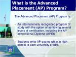 what is the advanced placement ap program