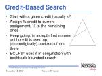 credit based search