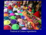 festival of colors ingredients