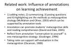 related work influence of annotations on learning achievement