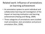 related work influence of annotations on learning achievement1