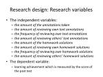 research design research variables