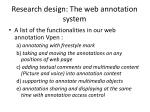research design the web annotation system