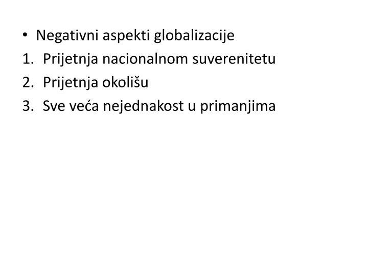 Negativni aspekti globalizacije