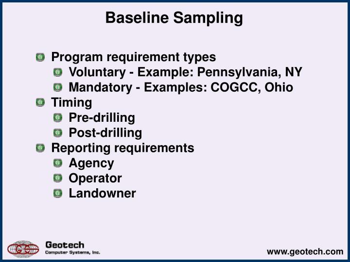 Baseline Sampling