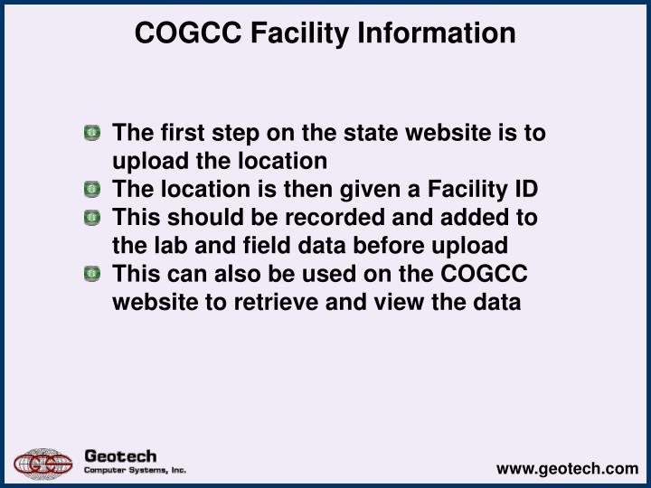 COGCC Facility Information