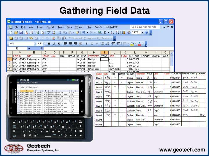 Gathering Field Data
