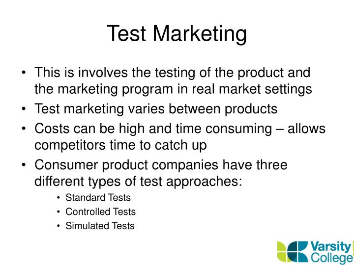 simulated test market Simulated test markets are powerful tools that are used frequently to aid marketing managers in making a go/no-go decision before bringing a product to test market.