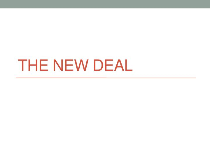 the new deal n.