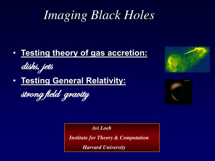 Imaging Black Holes